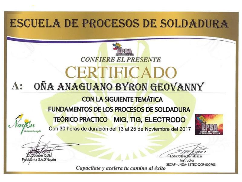 Certificados - GAD Nayón