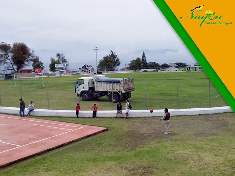 Minga de limpieza para Inauguración de Campeonato Infanto juvenil