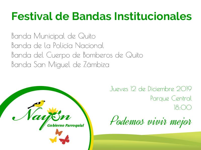 Festival de Bandas Parroquializacion Nayón