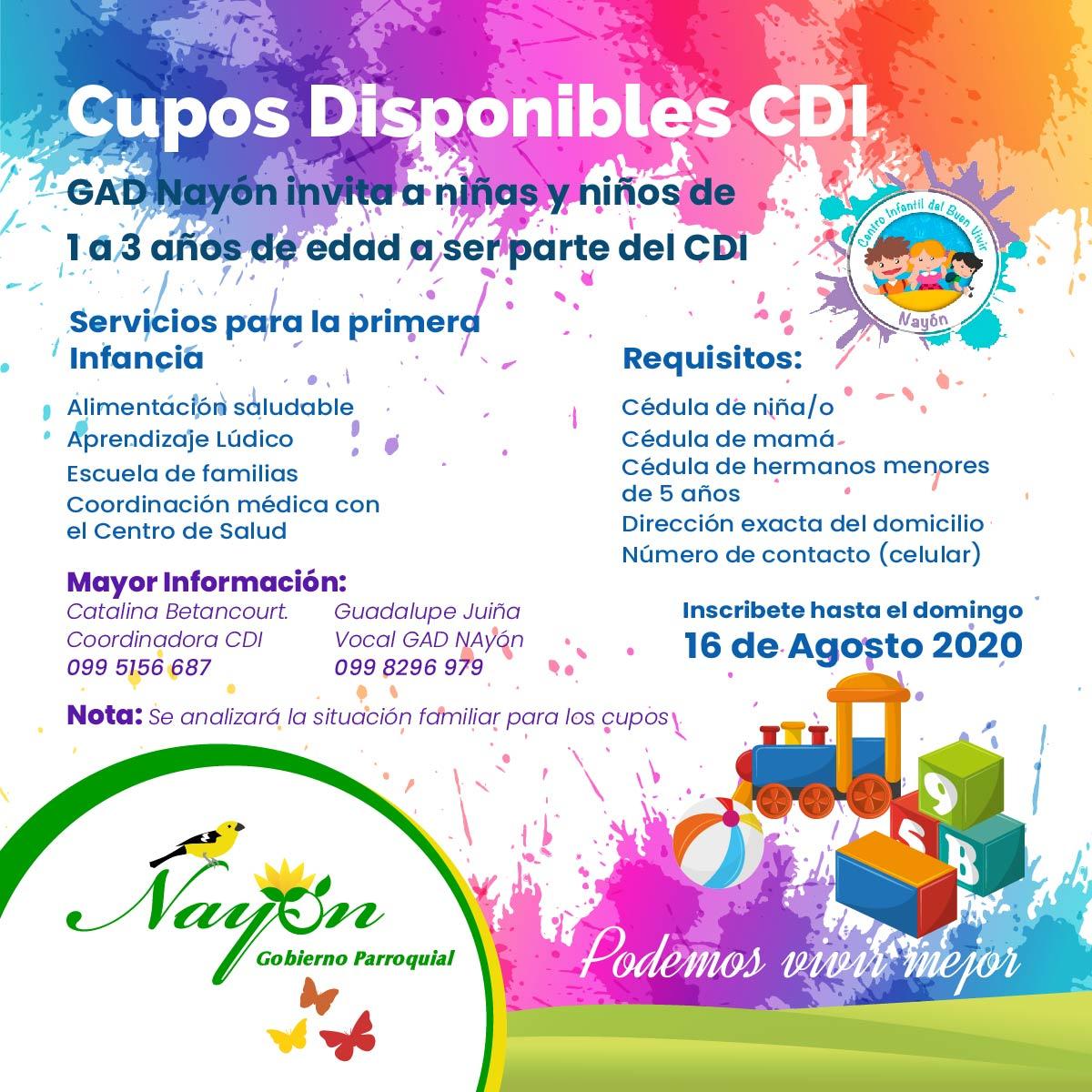 Inscripciones CDI