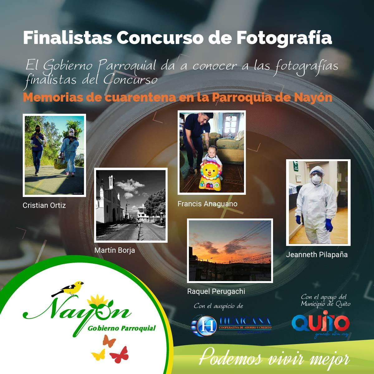 Finalista Concurso de Fotografías Memorias de Cuarentena en la Parroquia de Nayón