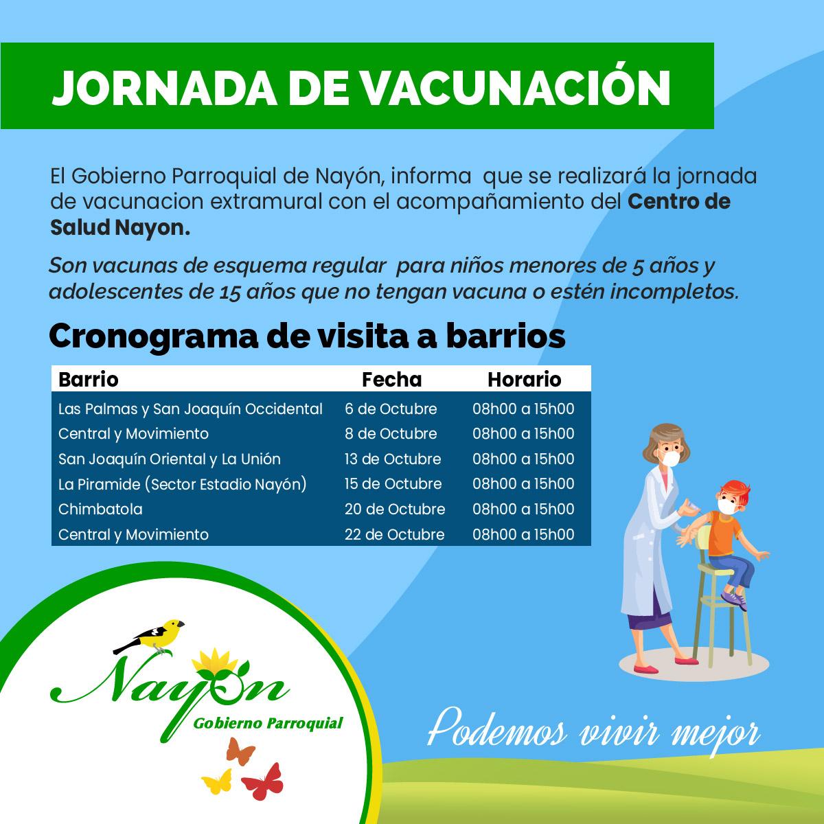 Vacunación Nayón