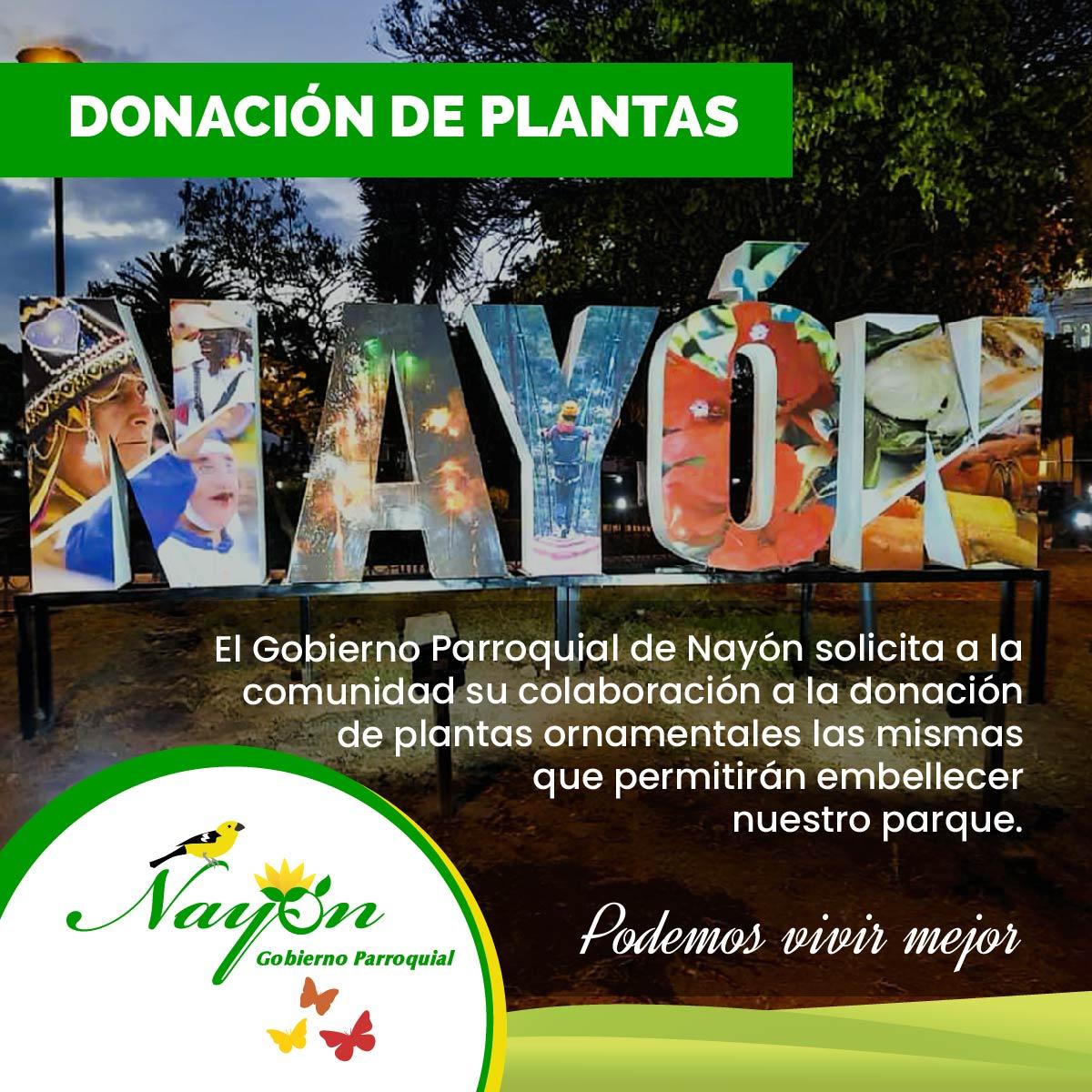 Donación de Plantas para el Parque de Nayón