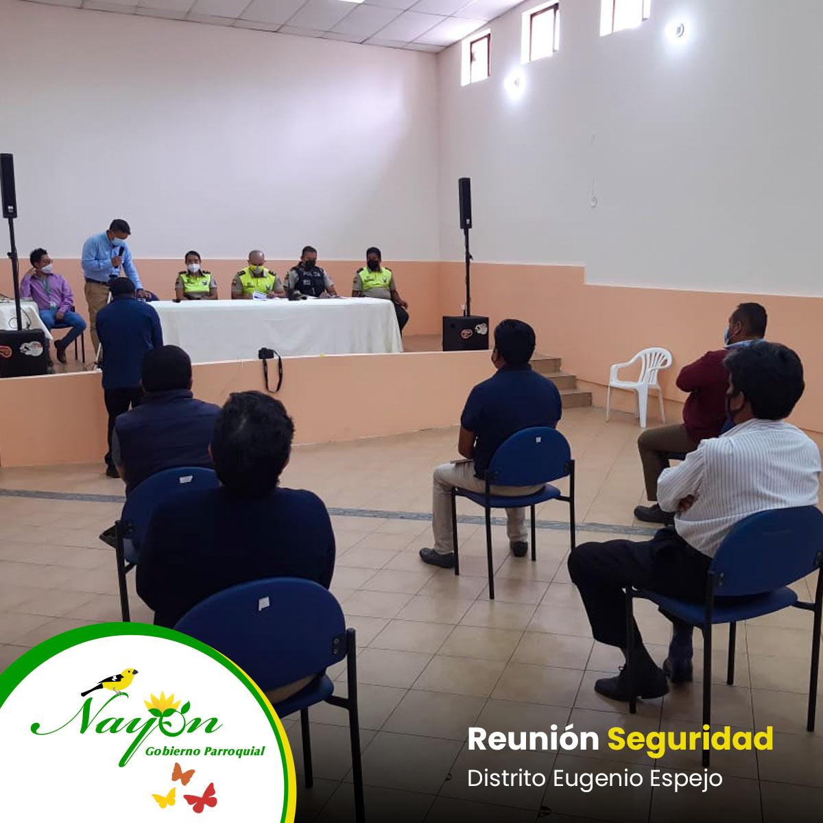Reunión de Seguridad con el Distrito Eugenio Espejo