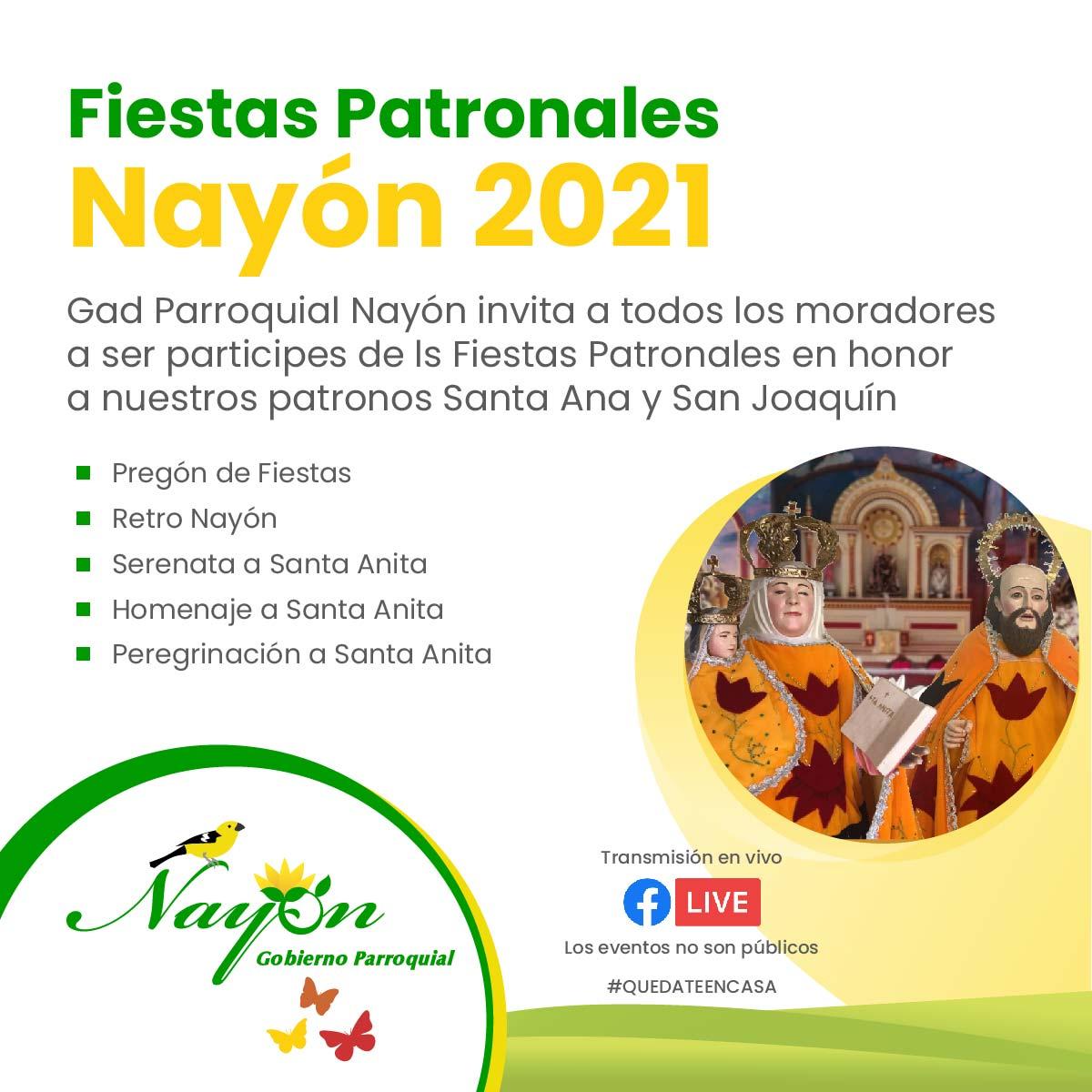 Cronograma de Fiestas Nayón 2021
