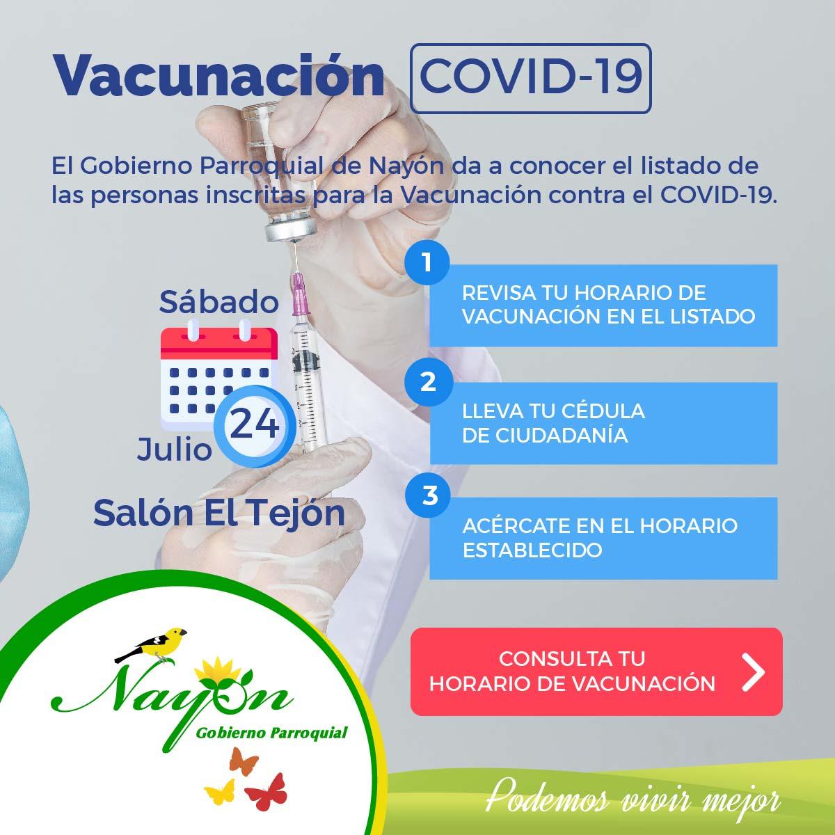 Listado para Vacunación contra COVID-19