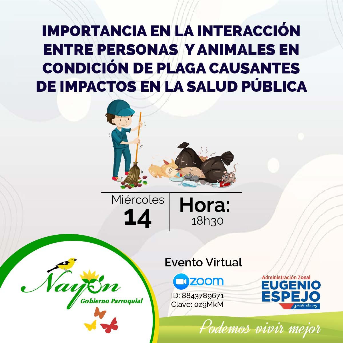 Capacitación en la Importancia en la interacción entre personas y animales en condición de plagas causante de impactos en la salud pública