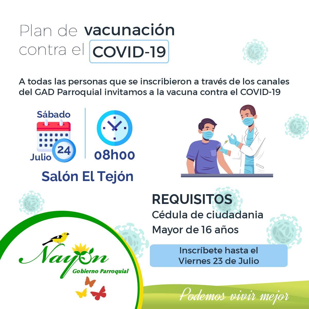Plan Vacunación contra Covid-19