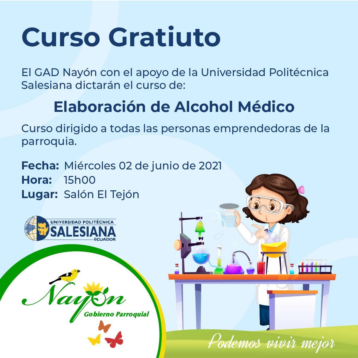Curso Gratuito de Elaboración de Alcohol Médico