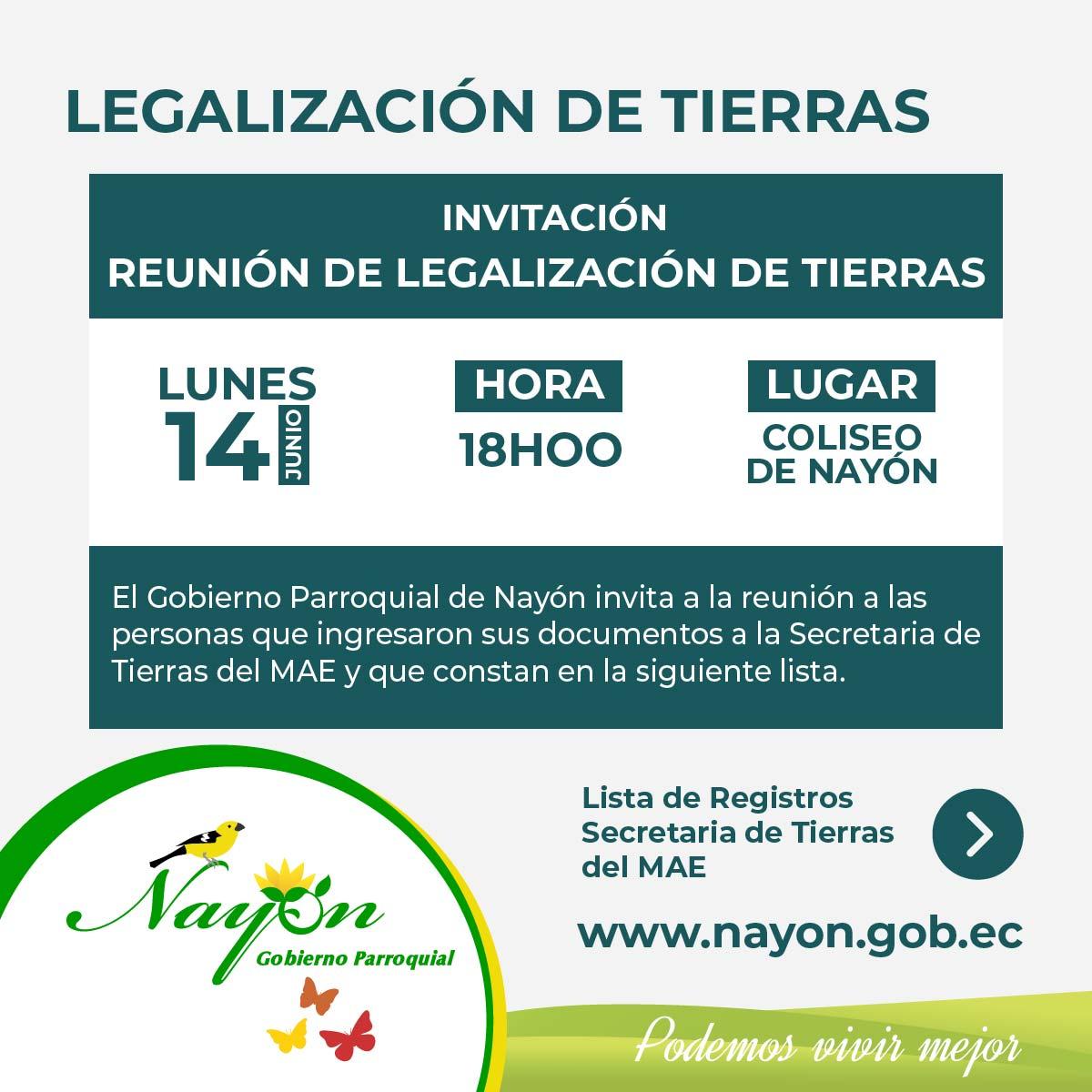 Legalización de Tierras