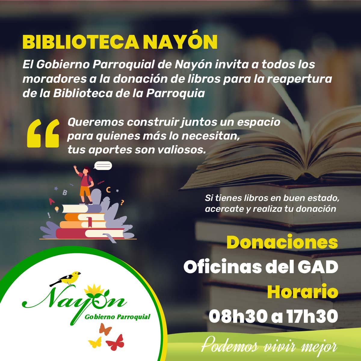 Donación de Libros - Biblioteca Nayón