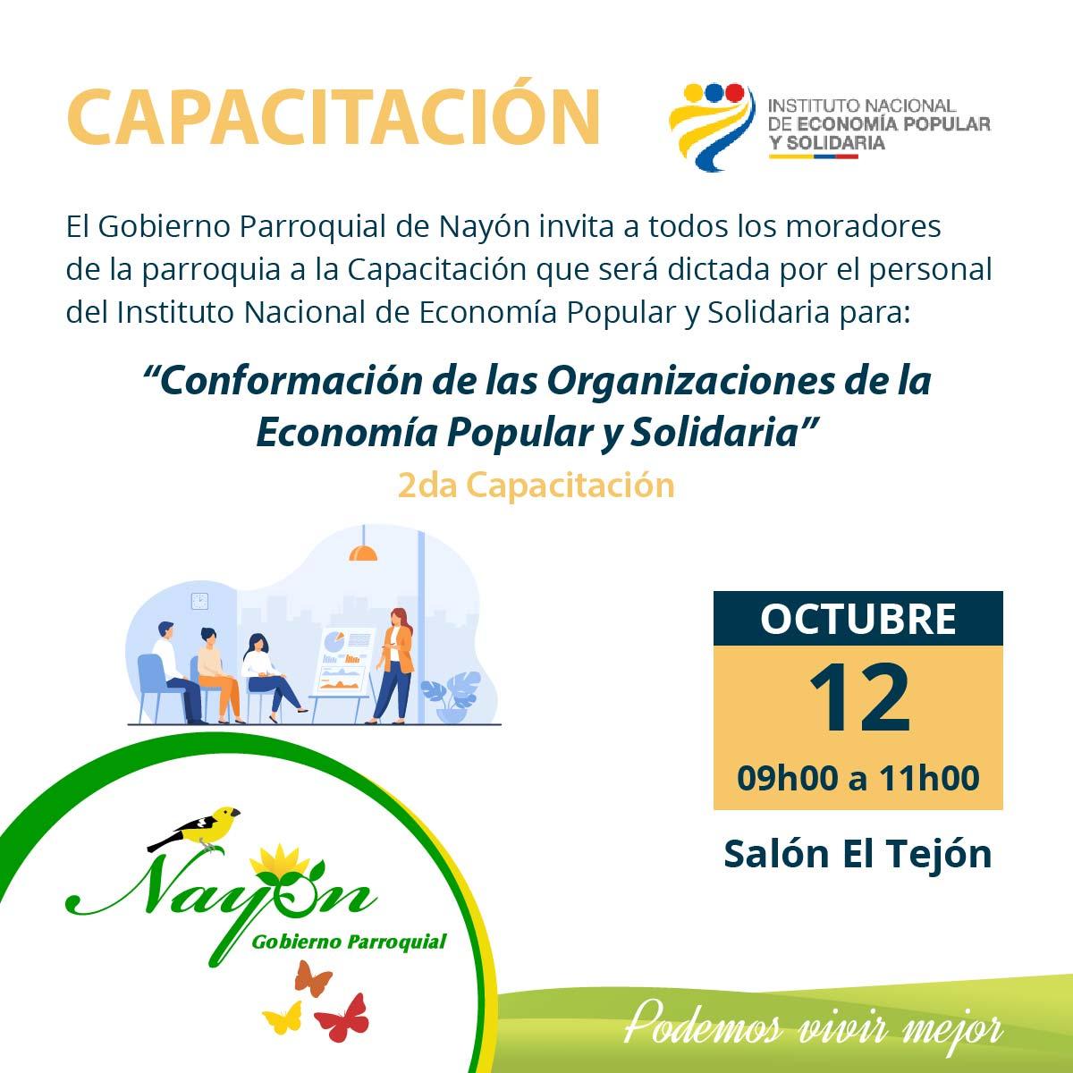 Capacitación - Conformación de las Organizaciones de la Economía Popular y Solidaria