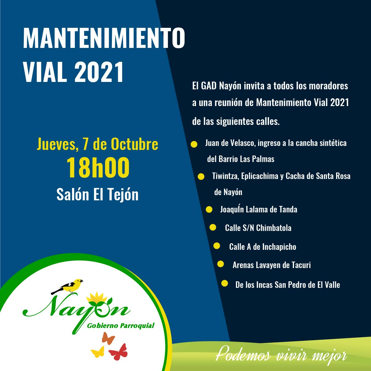 Mantenimiento Vial 2021