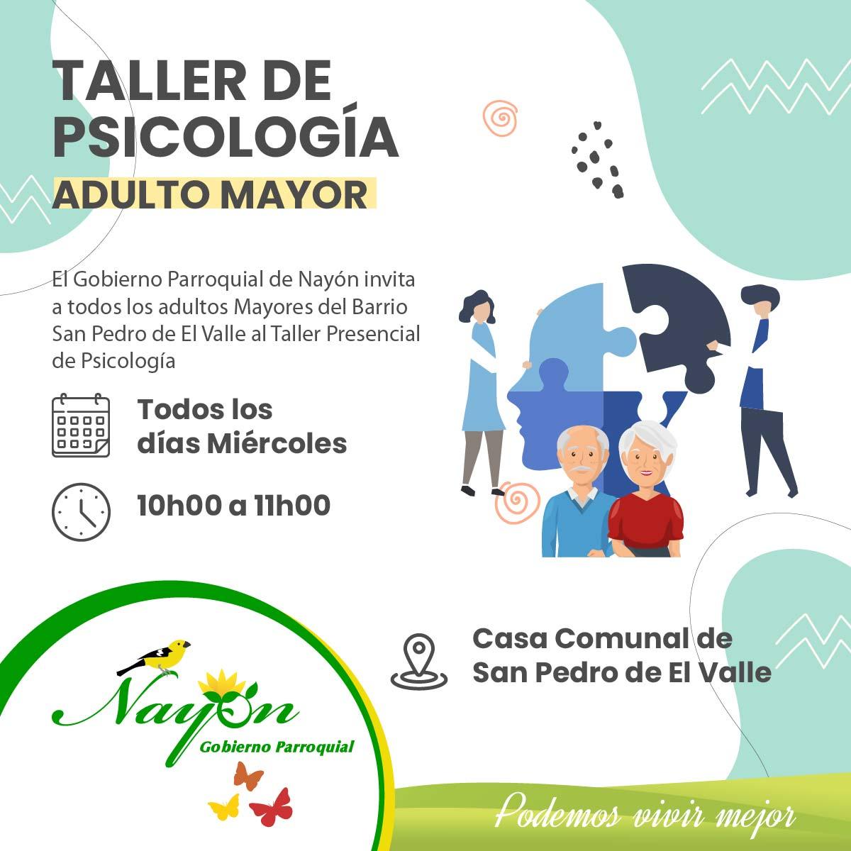 Taller de Psicología para el Adulto Mayor